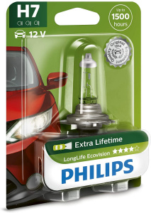 Philips lampe de voiture H7 LongLife Ecovision12V/55W blanc