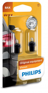 Philips car bulbs Bax8,5d Vision12V 1,2W white 2 pieces