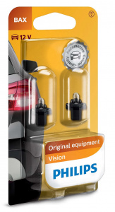 Philips car bulbs Bax8,3s Vision12V 1,2W white 2 pieces