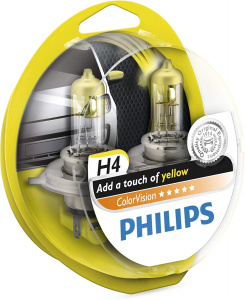 Philips autolampen H4 ColorVision 12V/55-60W geel/wit 2 stuks
