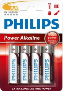 Philips batteries AA Power Alkaline silver / red 4 pieces