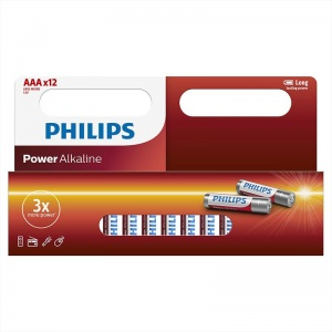 Philips piles alcalines AAA/LR3 Power Piles alcalines 12 pièces