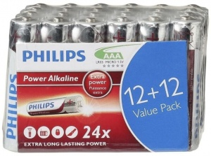 Philips batteries AAA Power Alkaline silver / red 24 pieces