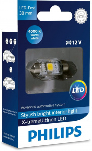 Philips interior lighting X-tremeUltinonLED 12V 38 mm white