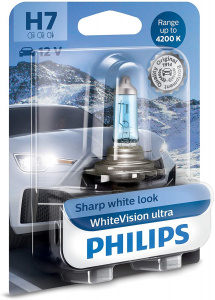 Philips lampe de voiture H7 WhiteVision12V/55W blanc