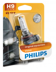 Philips autolampe H9 Vision12V 65W weiß