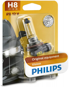 Philips autolampe H8 Vision12V 35W weiß im Blister