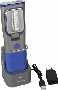 Philips working light Rch31uv led rechargeable 20 cm gray / blue