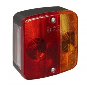 ProPlus achterlicht 4 functies 9,8 x 10,4 cm rood in blister