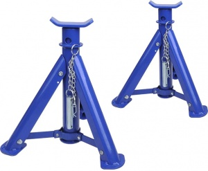 ProPlus axle supports 2 ton steel blue 2 pieces