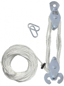 ProPlus hand hoist for 180 kg with 20 meters of rope