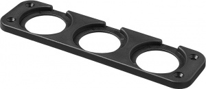 ProPlus installation frame built-in 3-fold 29 mm black blister