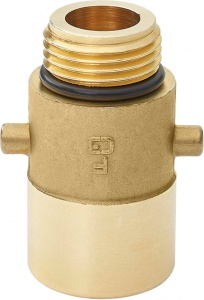 ProPlus LPG nippel Bajonet 22 mm messing goud