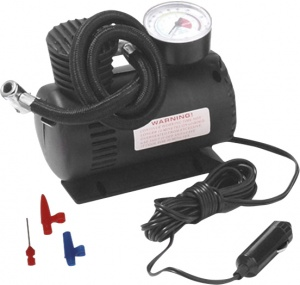 ProPlus mini air compressor 12 Volt plastic black