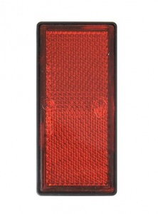 ProPlus reflector with base plate 85 x 39 mm self-adhesive red
