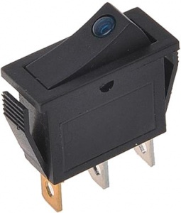 ProPlus rocker switch with LED light 125-230 Volt blue
