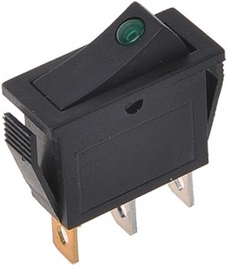 ProPlus rocker switch with LED 125-230 Volt green blister