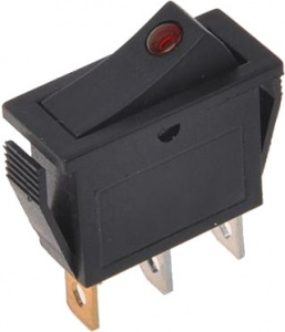 ProPlus rocker switch with LED 125-230 Volt red