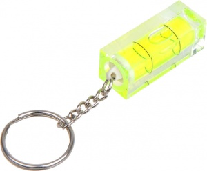 ProPlus key ring with spirit level silver / yellow 4 cm
