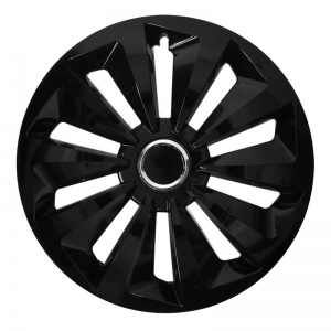 ProPlus hubcap Fox 16 inch ABS black per piece