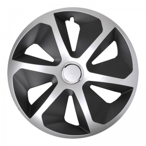 ProPlus hub caps Roco 15 inch silver / black set of 4