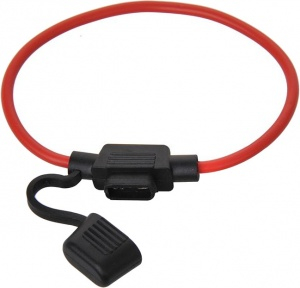 ProPlus fuse holder in-line mini 20 cm red