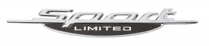 Race Sport logo Limited Sports chrome 28 x 195 mm chacun