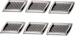 Race Sport stickers air inlet 85 x 45 mm carbon-look chrome 6 pcs