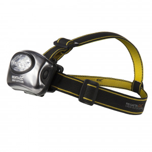 Regatta headlight 20 lumen aluminium black