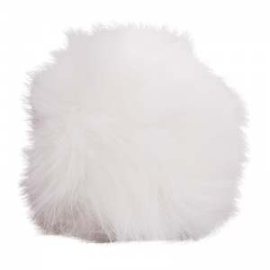 Simoni Racing gearknob cover Fluffy Furuniversal white
