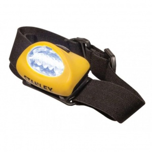 Stanley headlamps led with headband yellow 2 pieces