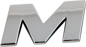 Sumex adhesive letter M chrome 25 x 15 mm each
