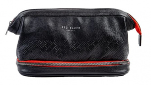 Ted Baker storage bag cables men imitation leather 23,5 x 13 cm black