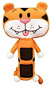 TeleToys housse de ceinture Tiger junior 55 cm polyester orange/noir