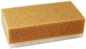 TOM car sponge anti insect 21 x 11 cm yellow/white