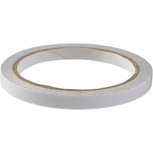 Creotime double-sided adhesive tape 10 m x 9 mm silver grey
