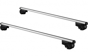 Twinny Load roof rack kit 124 cm aluminium silver