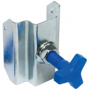 Twinny Load clamping piece stop blocks with star bolt silver/blue