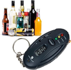 United Entertainment alcohol tester Bob  antraciet 7,5 cm