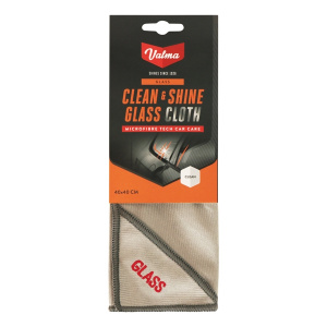 Valma glass cloth V011 microfibre 40 x 40 cm grey