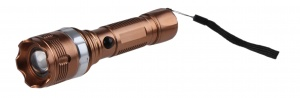 VDM Flashlight With Zoom Function Bronze-silver 15.5 cm
