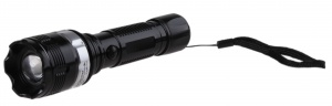 VDM Flashlight With Zoom Function black-silver 15.5 cm