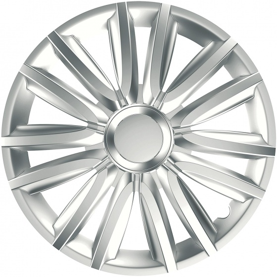 Car Plus wieldoppen Race 14 inch ABS zilver set van 4
